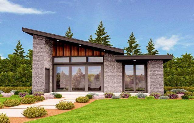 Projeto de casa moderno clean e atraente