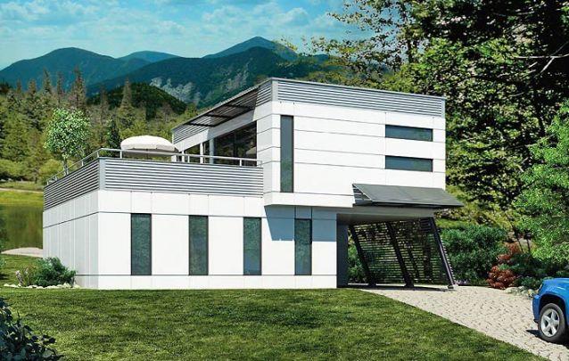 Casa moderna com arranjo distinto