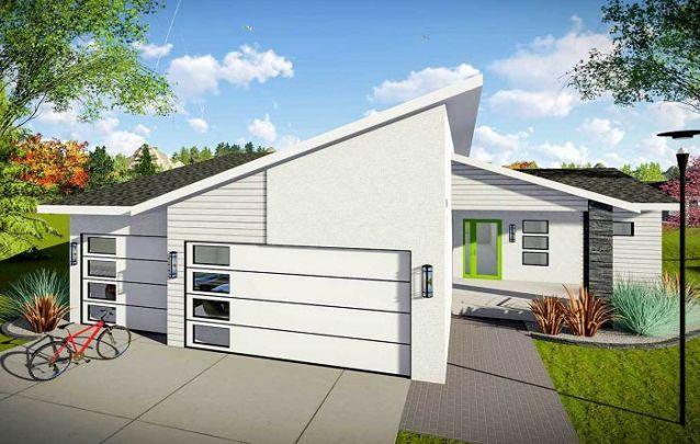 Uma arquitetura diferente para uma casa moderna e jovem