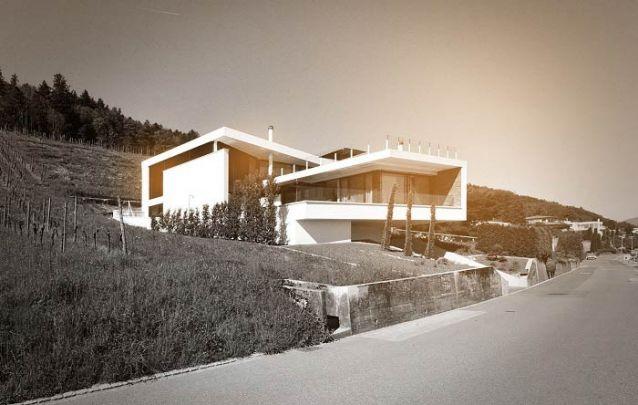 Uma casa moderna com design imponente