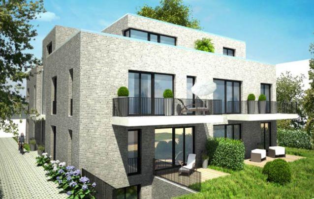 Uma construção multifamiliar também pode apresentar um design moderno