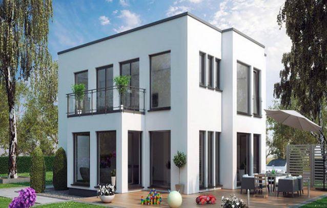 Casa moderna com dois andares e pé direito alto