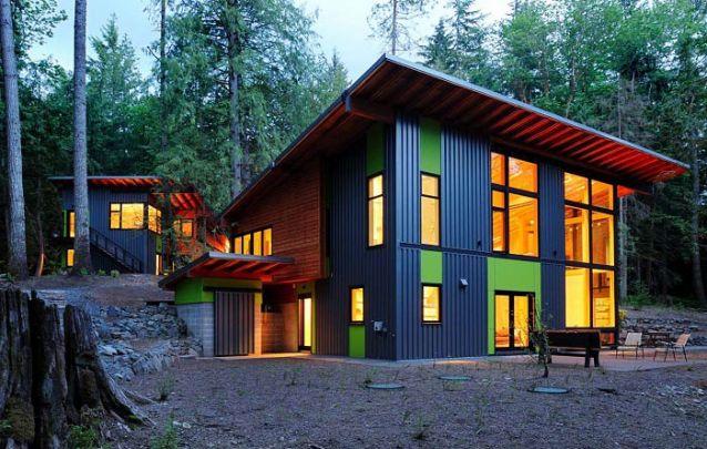 Uma casa moderna e sustentável