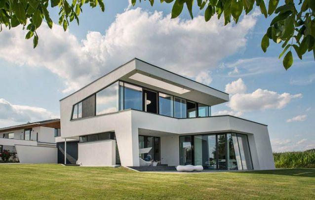 Casa moderna com uma arquitetura diferenciada
