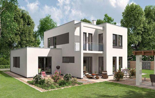 Casa moderna com aparência neutra e aconchegante