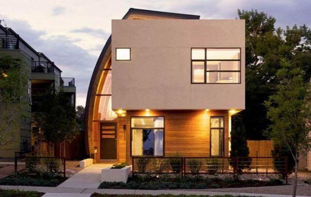 A fachada distinta caracteriza a modernidade neste projeto