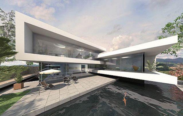 Casa moderna com uma arquitetura impactante
