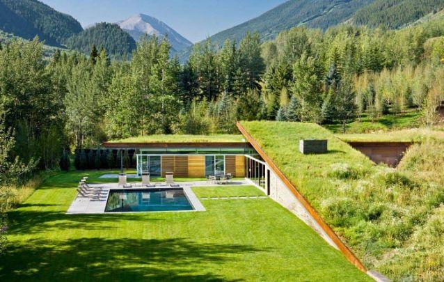 Neste projeto o diferencial fica por conta do telhado verde