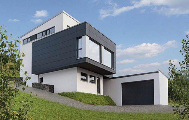 Branco e cinza são os queridinhos para compor a fachada de casas modernas