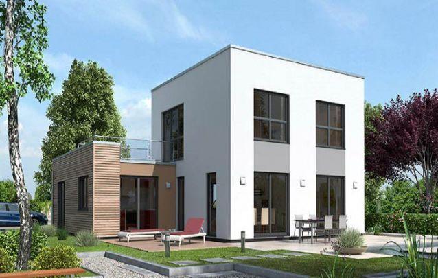 Casa moderna com telhado de cobertura plana