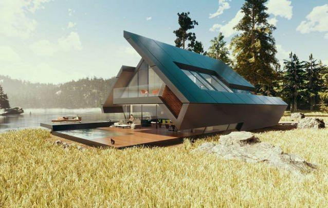 Se você não tem medo de ousar, se inspire neste projeto moderno completamente inusitado para construir a sua casa