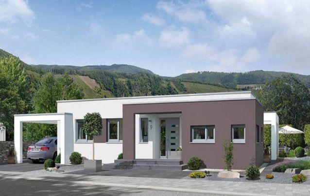 O marrom é ótimo para trazer contraste em casas modernas brancas