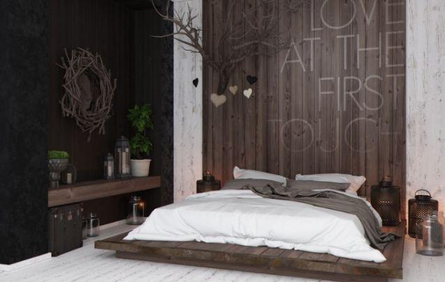 Uma linda e elegante decoração de quarto rústica, para quem está em busca deste estilo