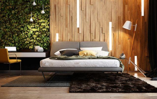 Que tal apostar em uma parede verde para trazer refrescância para o seu quarto?