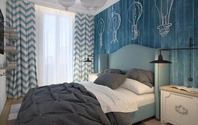 O azul está diretamente ligado com o sentimento de harmonia, paz e tranquilidade, ótimo para compor um quarto relaxante