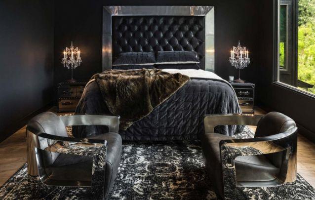 Decoração de quarto luxuosa e elegante