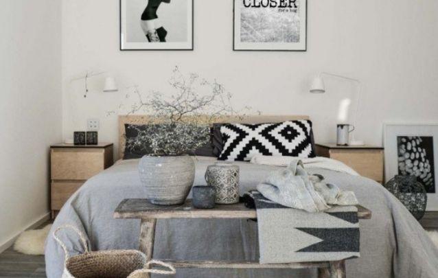 Esta é uma ótima ideia de como decorar um quarto com estilo escandinavo