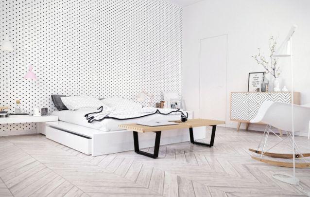 Mais uma linda opção para quem deseja decorar um quarto com estilo escandinavo