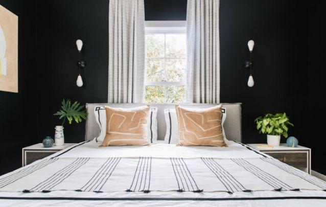 Decoração de quarto elegante e sem exageros