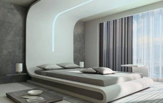Decoração de quarto minimalista e inusitada
