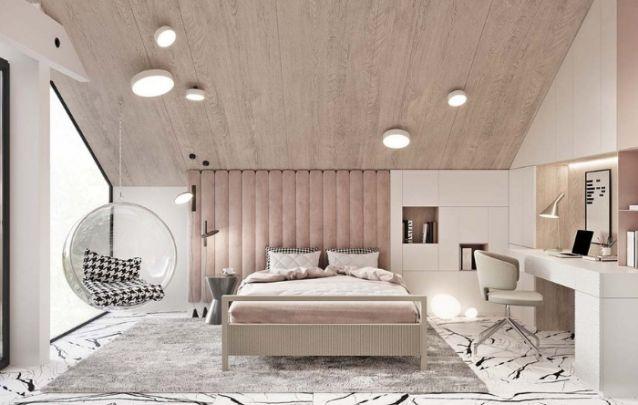 Decoração de quarto elegante e funcional