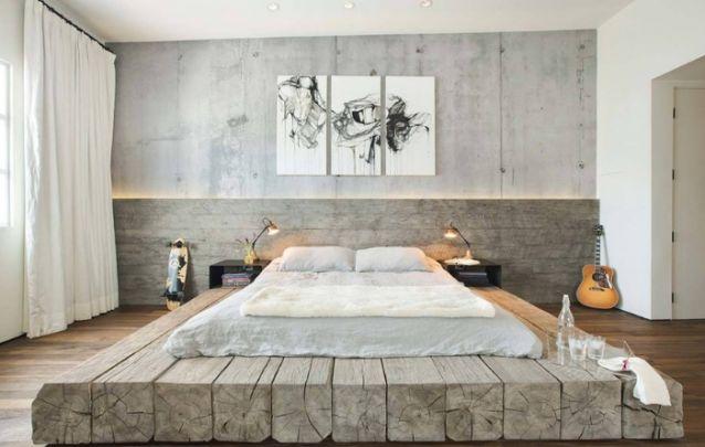 A cama é o grande destaque desta decoração