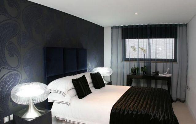 Branco e preto, uma combinação clássica para o seu quarto