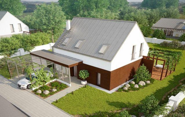 Casa de dois andares com um estilo germânico