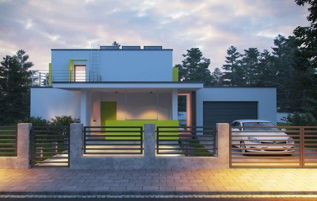 Projeto de casa moderna e minimalista