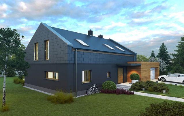 Tons escuros para a fachada da casa deixam o design sofisticado