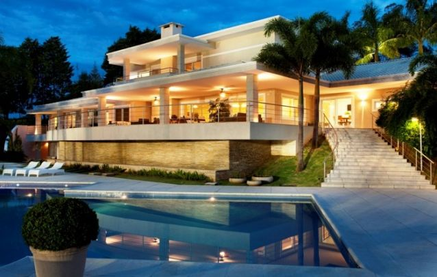 Um projeto de casa grande e imponente