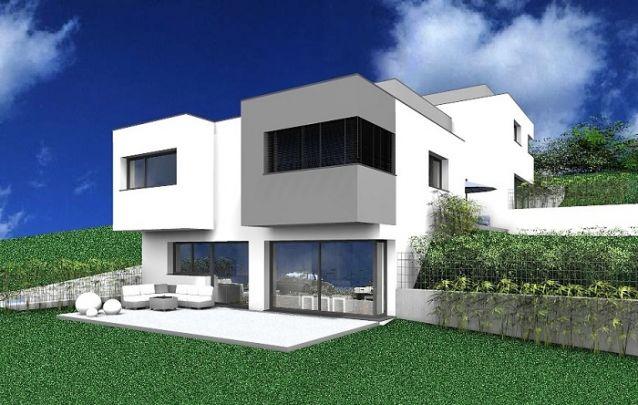 Linhas retas são características dos projetos de casas modernas