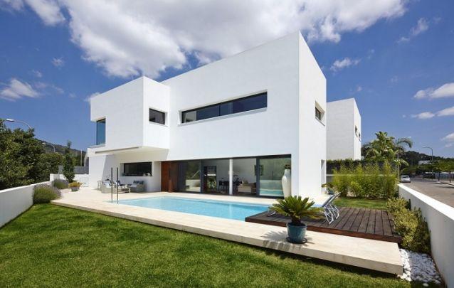 Projeto de casa moderna com piscina