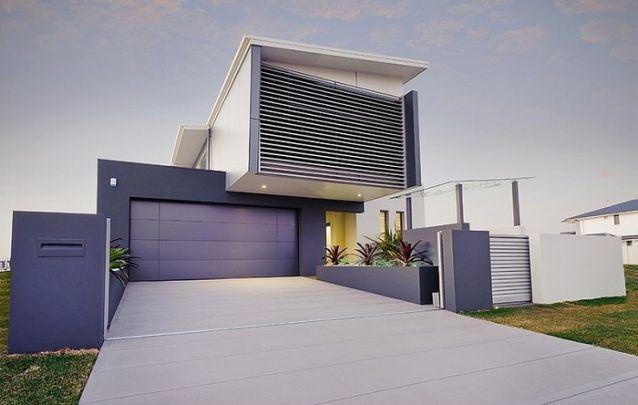 Branco e cinza, um duo de cores contemporâneo para as fachadas de casas