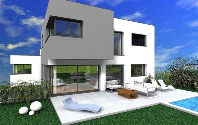 Este modelo de casa é um exemplar do estilo modernista