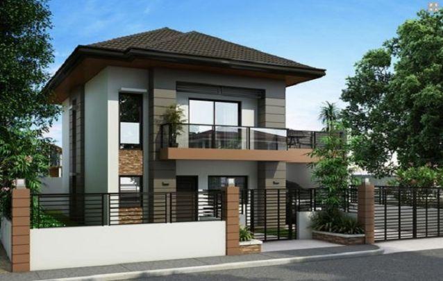 O marrom também é uma cor elegante para a fachada de casas