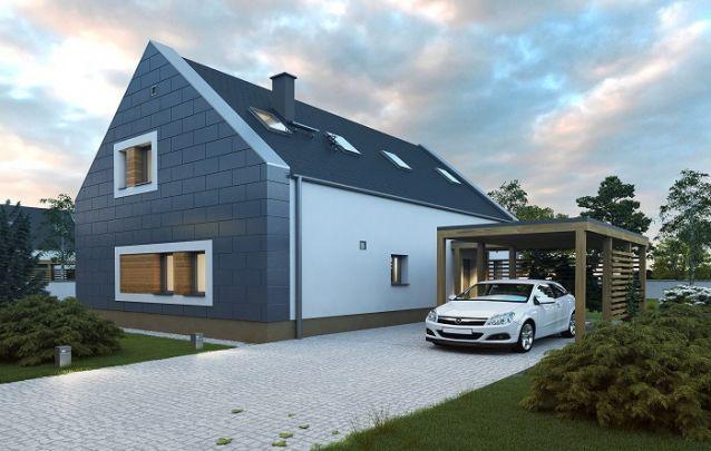 Uma garagem para proteger os carros é indispensável nos projetos de casas