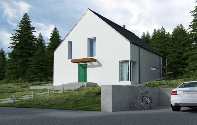 O estilo minimalista foi adotado para este projeto de casa
