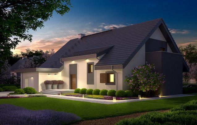 Projeto de casa tradicional e elegante
