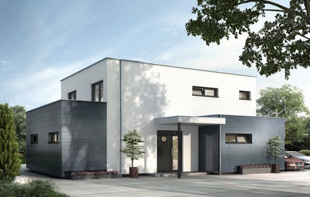 Design de cubo moderno para inspirar quem busca por projetos de casas geométricas