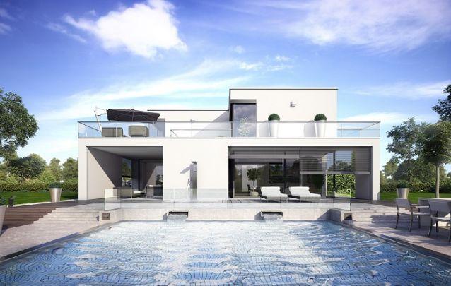 A cor branca deixa os projetos de casas mais sofisticados