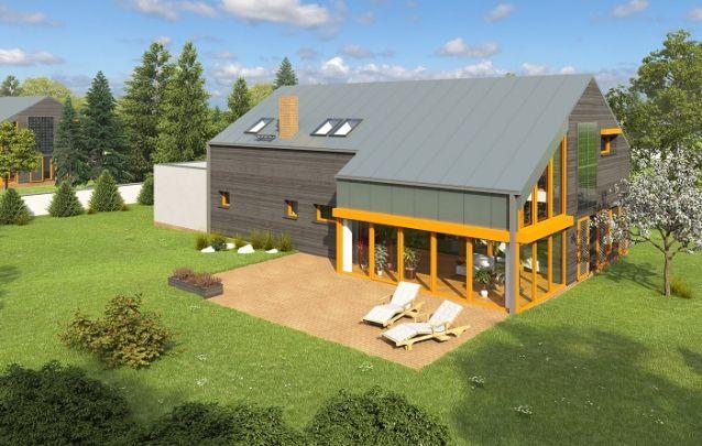 Este projeto de casa lembra um antigo celeiro