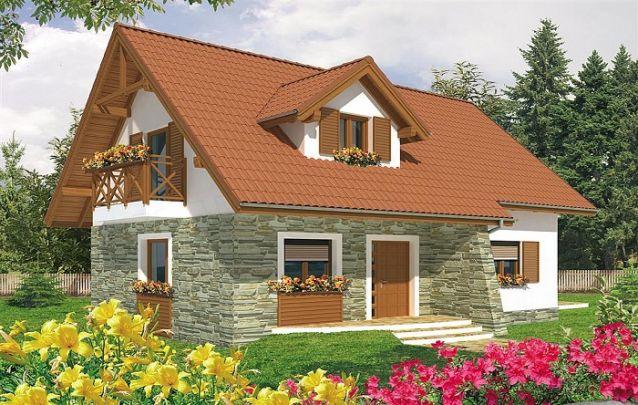 Acabamento em pedra pra este modelo de casa para o campo