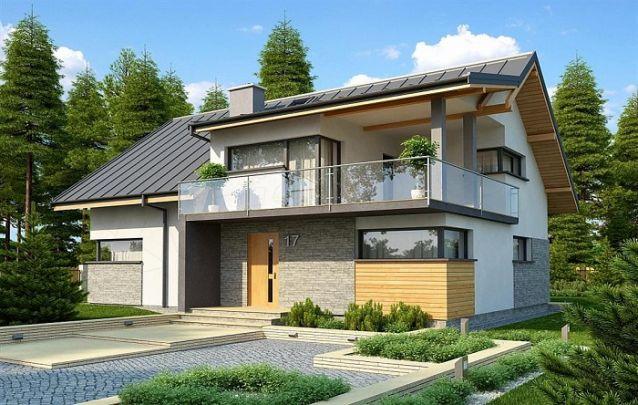 Uma possibilidade para quem busca por projetos de casas com fachadas contemporâneas