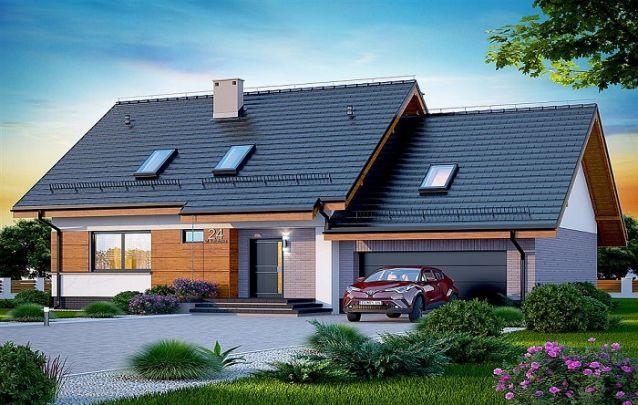 Aposte em projetos de casas com claraboias no telhado, pois elas permitem uma entrada maior de luz natural na casa
