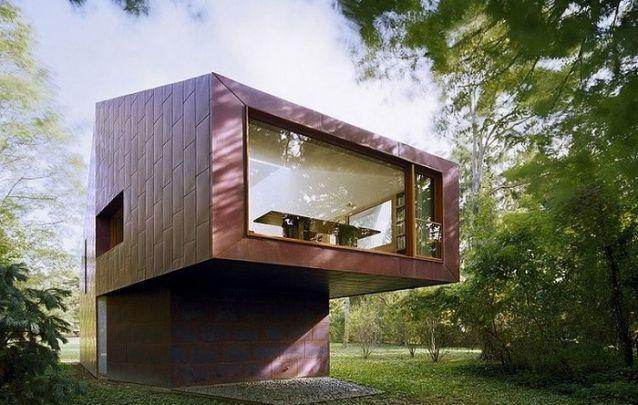 Um modelo de casa moderno e original para uma casa de campo