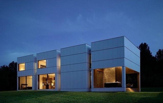 Uma única casa composta por diversos blocos