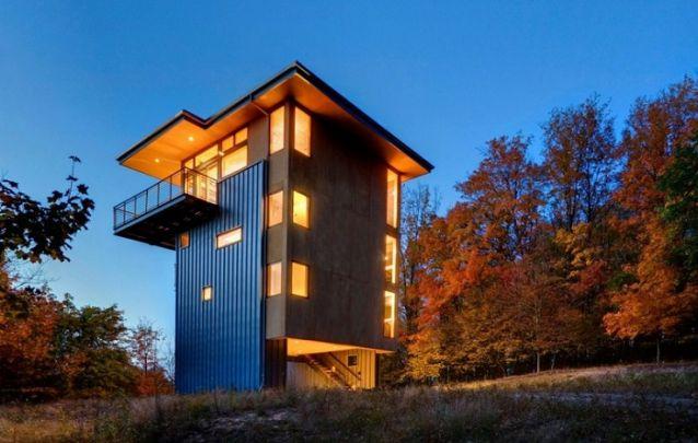 Projeto de casa em forma de torre