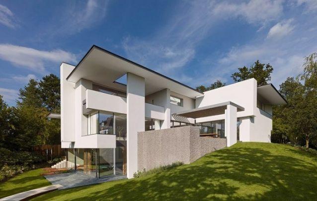 Projeto de casa com diferentes recortes na alvenaria