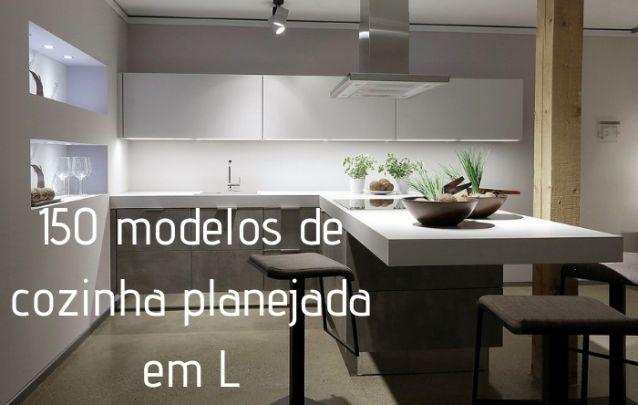 150 Modelos de Cozinha Planejada em L